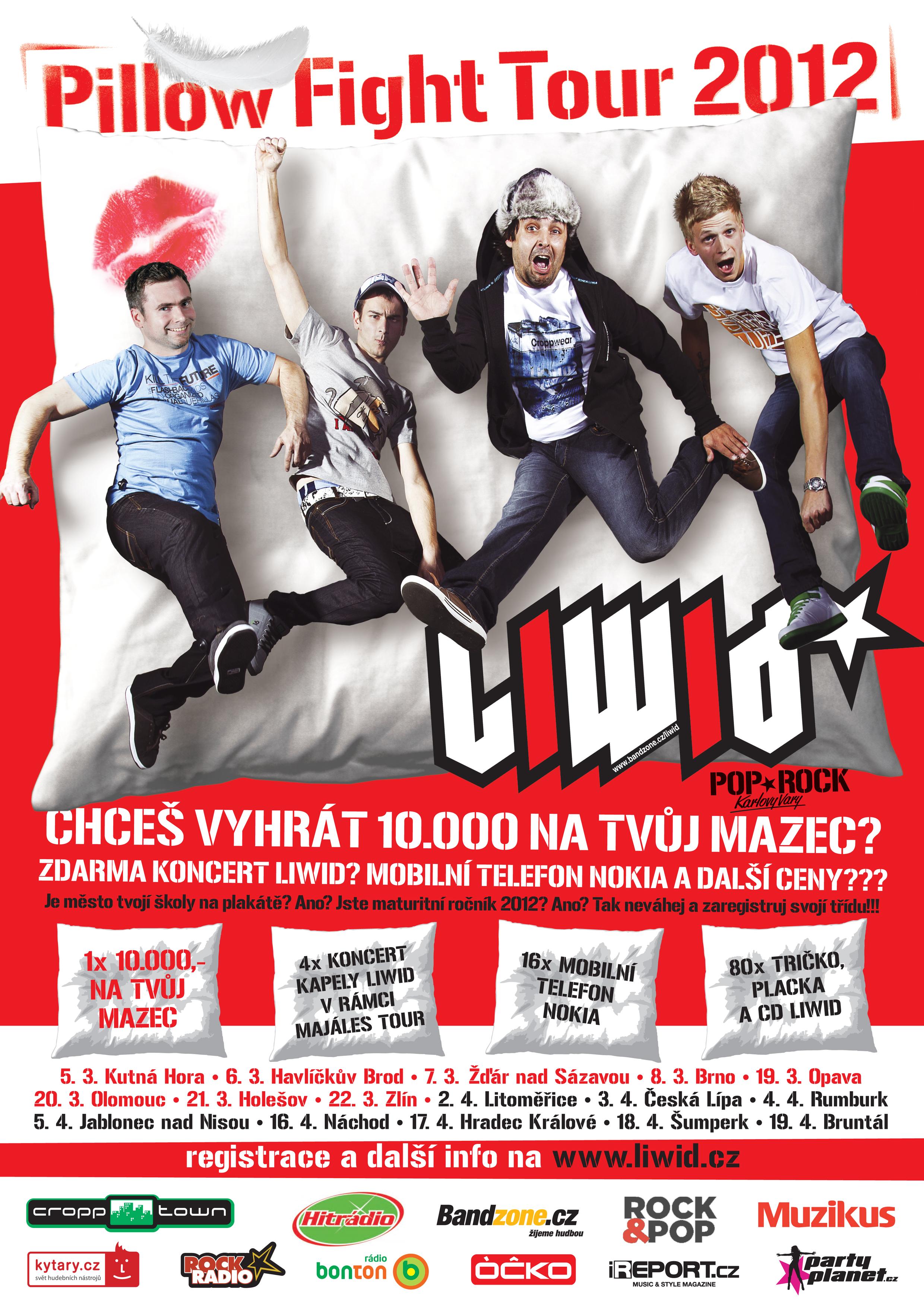 Liwid chystají turné po školách, dojde i na polštářovou bitvu