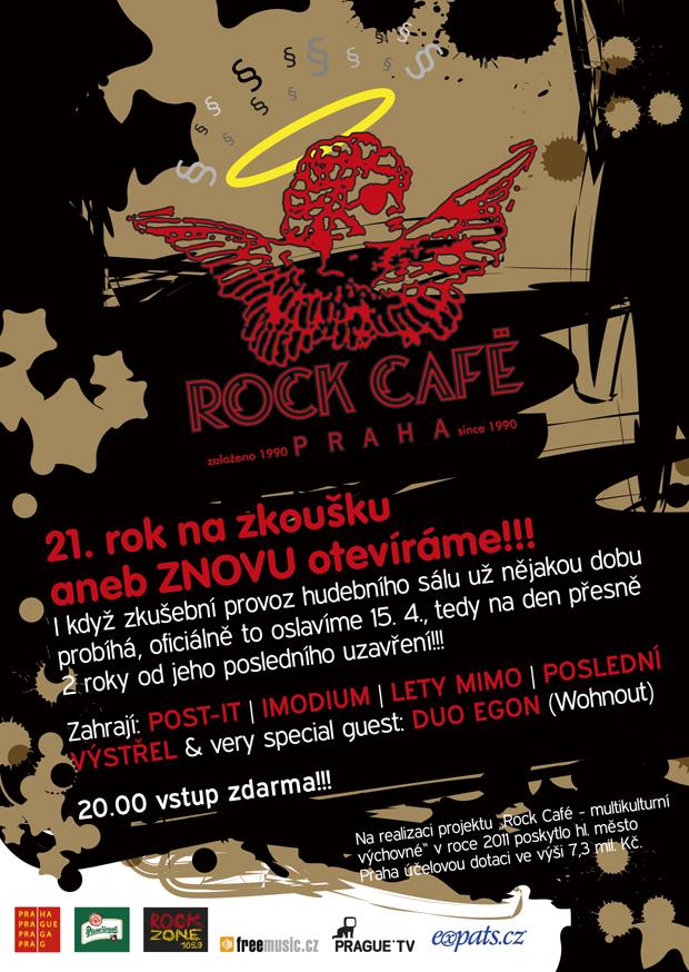 Pražské Rock Café se znovu otevírá, zahrají Post-It nebo Lety Mimo