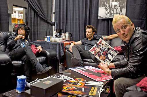green day in backstage