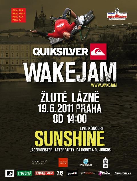 Sunshine se svezou na vltavské vlně, zahrají na Quiksilver Wake Jam