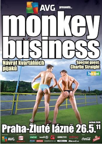 Monkey Business budou mít narozeniny, gratulanty jsou Charlie Straight