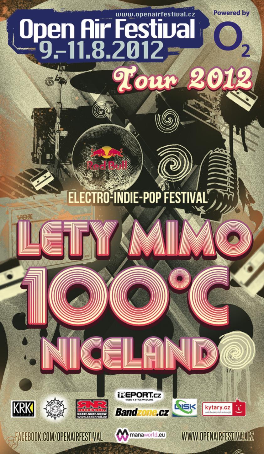 100°C, Lety Mimo a NiceLand vyrážejí na Open Air Festival Tour