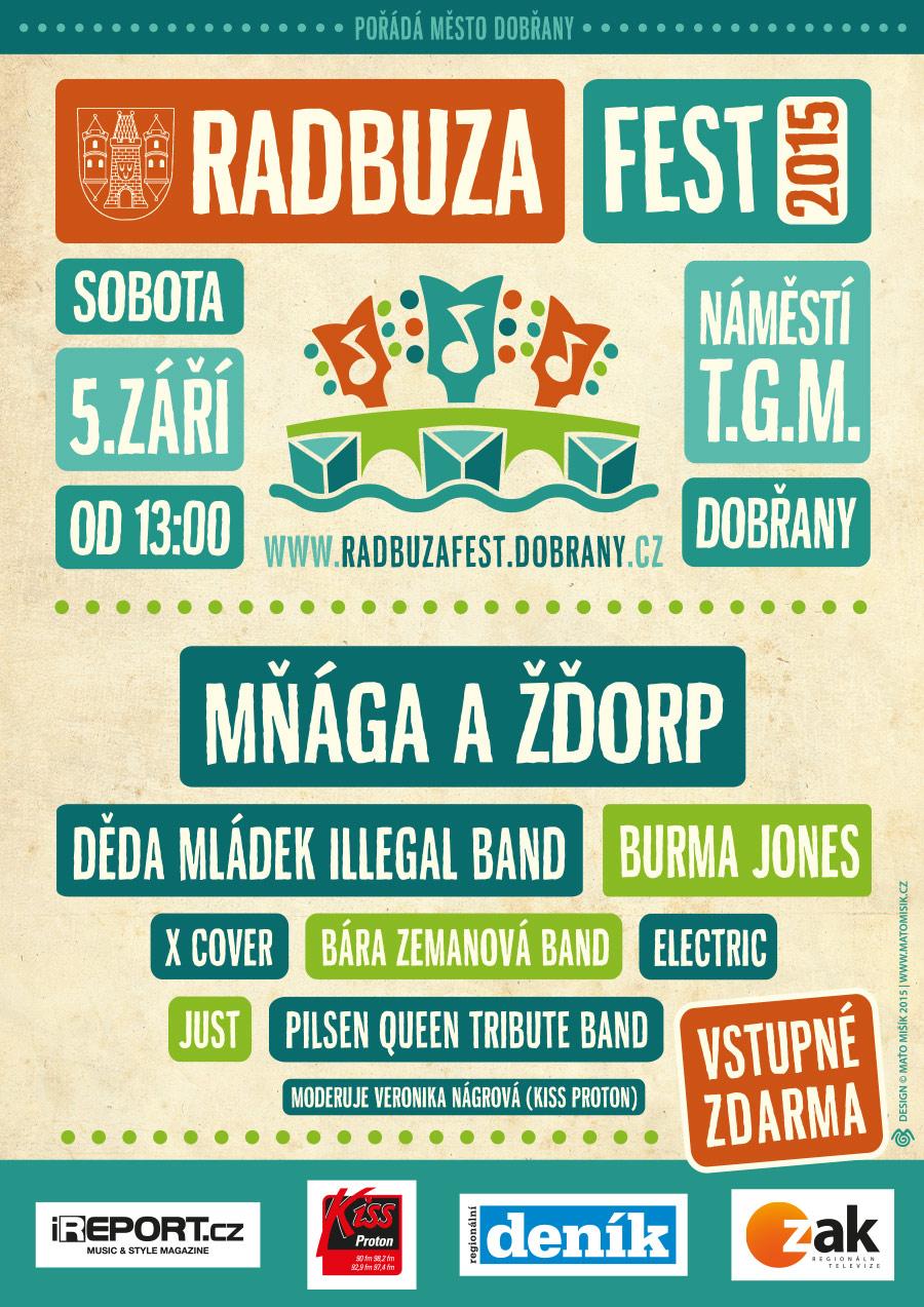 Radbuza fest Dobřany rozezní Mňága a Žďorp a další oblíbené kapely