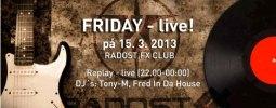 Radost FX odstartuje sérii večerů Friday - live