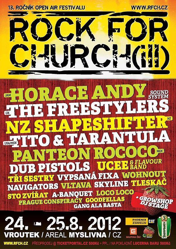 Rck For Church(ill) přivítá Freestylers, Shapeshifter, Tři Sestry, Sto zvířat a další