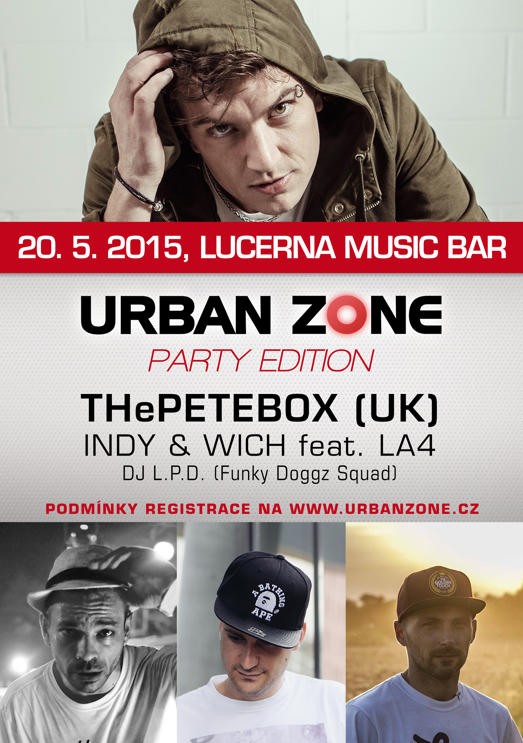 Urban Zone Party Edition: hiphopová klasika s Indy & Wich a beatboxová nálož od THePETEBOX