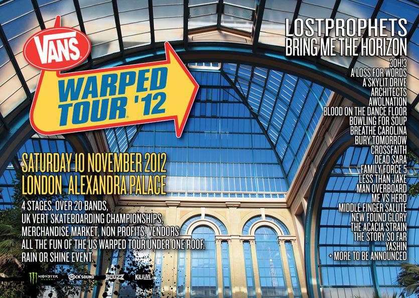 Warped Tour se vrací do Evropy, udělejte si výlet do Londýna