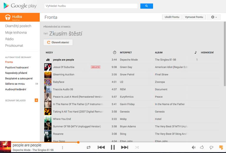 Google spustil službu Hudba Google Play. V nabídce jsou miliony písní