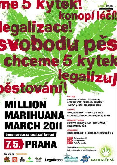 Million Marihuana March chce legalizaci marihuany, demonstrace bude v květnu