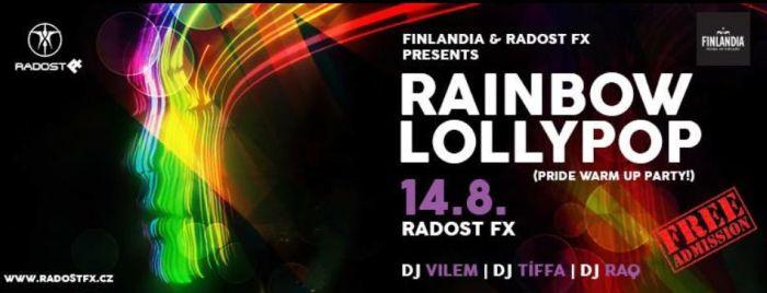 Radost FX v duchu Pride: RAINBOW LOLLYPOP proběhne 14. srpna
