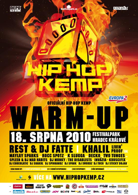Zahřívací mejdan na Hip Hop Kempu