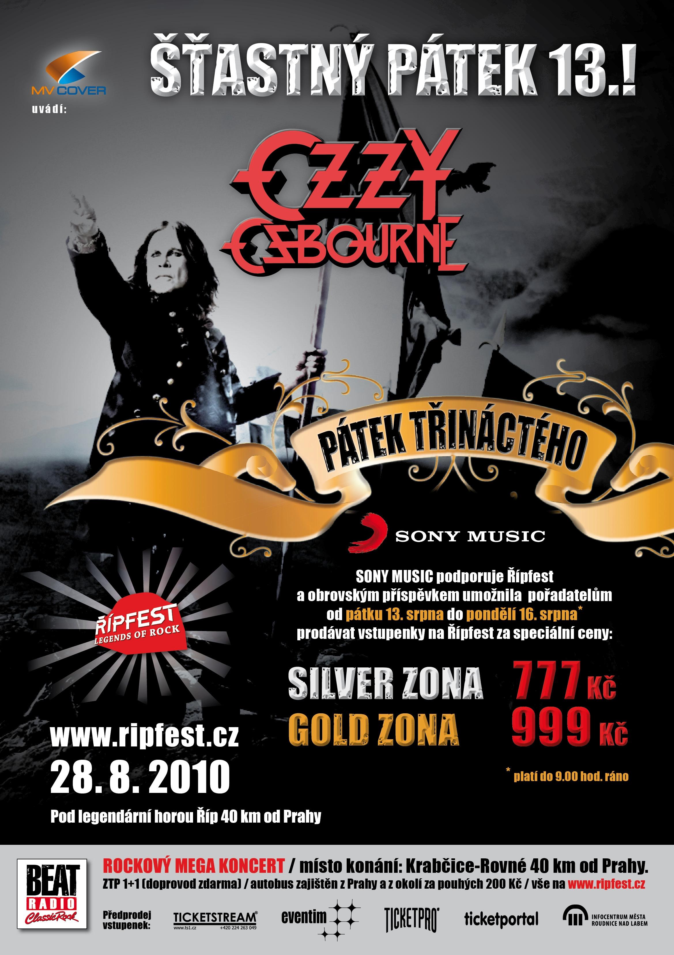 Řípfest: Ozzy, Korn, Nazareth i Cocotte!