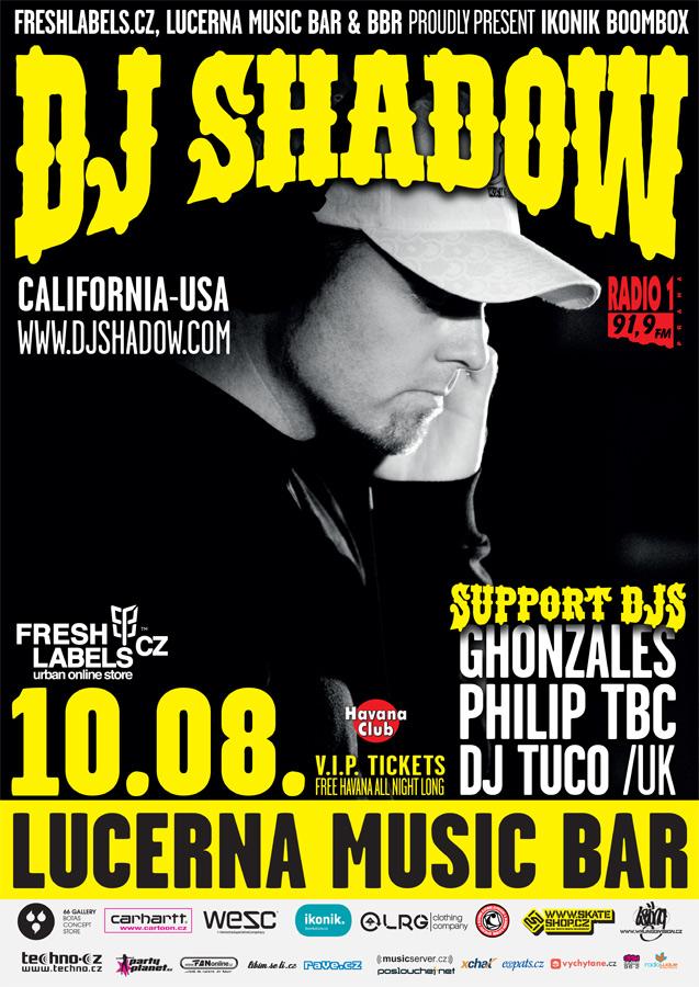 DJ Shadow: mistr hip hop v Praze