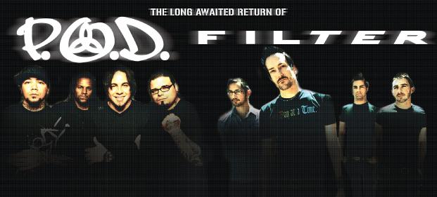 Filter a P.O.D. jedou společné turné