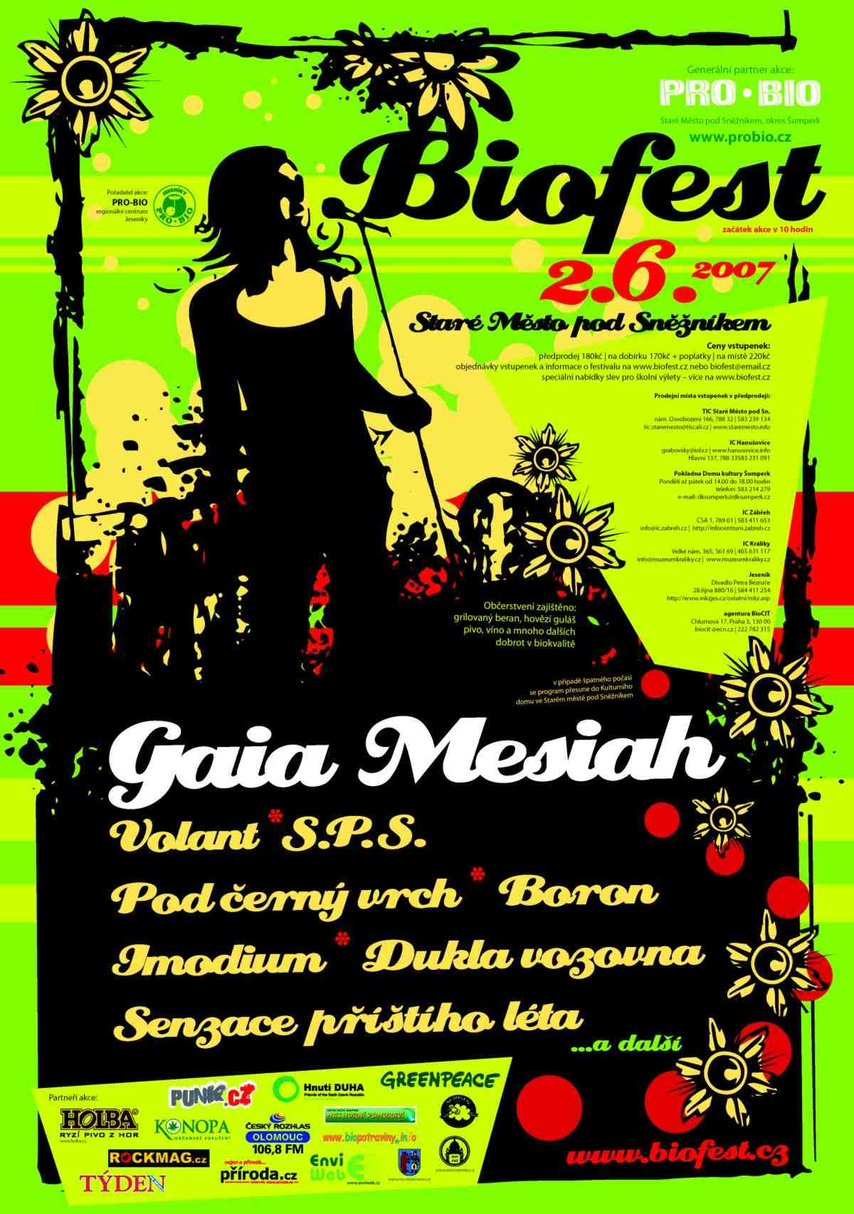 BIOfest nejen s Gaia Mesiah