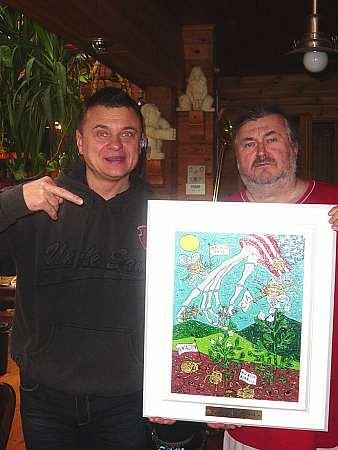 Vilda Čok dostal k narozeninám obraz