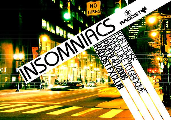 Insomniacs party v Radosti FX
