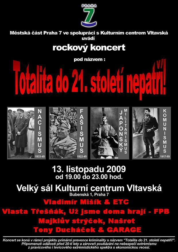 Rockeři chystají koncert proti totalitě