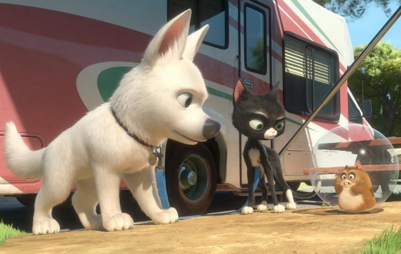 Do kin míří animovaný pes Bolt