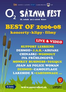 DVD O2 Sázavafest Best of 2006-08