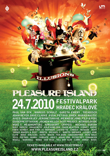 Pleasure Island přiveze Sharama Jaye