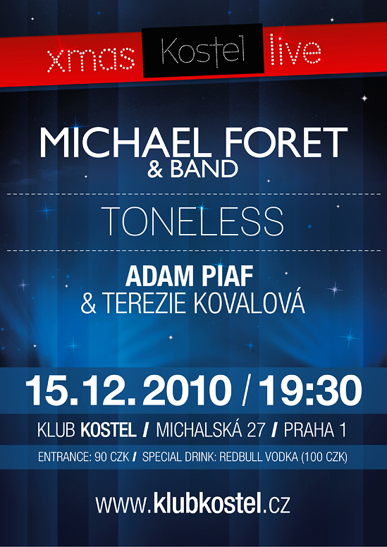 Michael Foret a Toneless v kostele