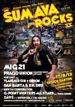 Šumava Rocks slaví 20 let, blahopřát budou Mig 21, Dan Bárta i Prago Union