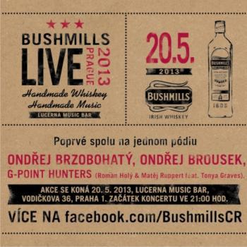 Ondřej Brzobohatý, Ondřej Brousek a G-Point Hunters už v pondělí na Bushmills Live Prague