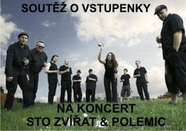 Lístky na koncert Sto zvířat & Polemic