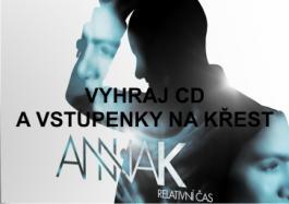 3x CD a vstupy na křest Anna K.
