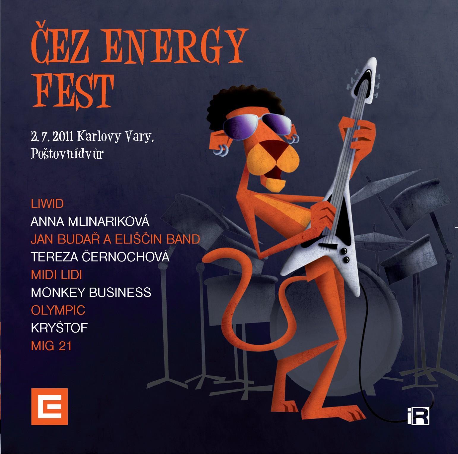 Poslechněte si CD ČEZ Energy Fest s Kryštof, Mig 21, Monkey Business a dalšími účinkujícími