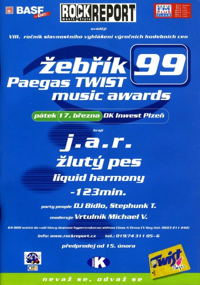 Žebřík 1999 Paegas Twist Music Awards