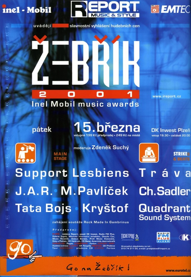 Žebřík 2001 Inel Mobil Music Awards