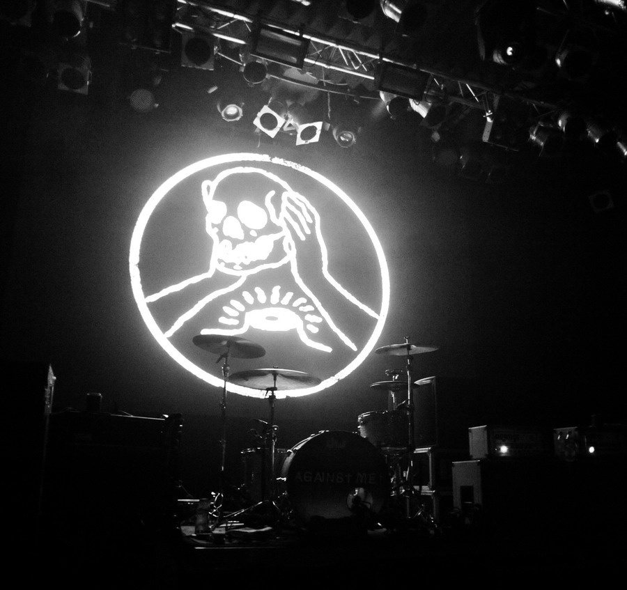 Bouře s Against Me! v Lucerna Music Baru