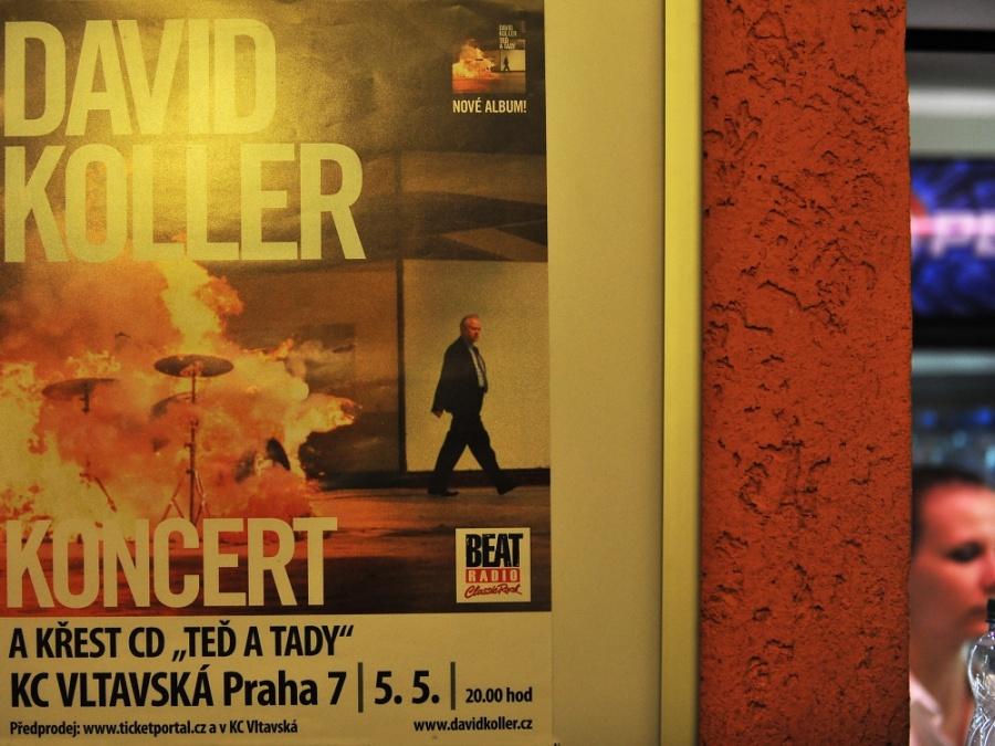 David Koller křtil v Praze album Teď a tady, kmotrou byla Tereza Maxová
